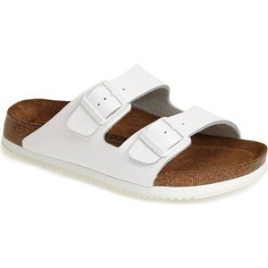 Birkenstock White Patent Leather Arizona Sandals